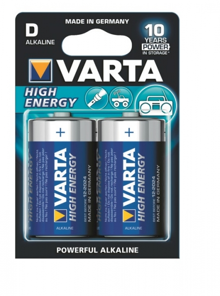 D - alcaline HIGH ENERGY VARTA